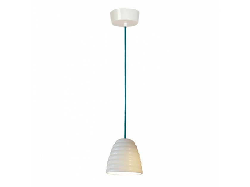 Porcelain pendant lamp with dimmer HECTOR BIBENDUM 1 | Pendant lamp by Original BTC