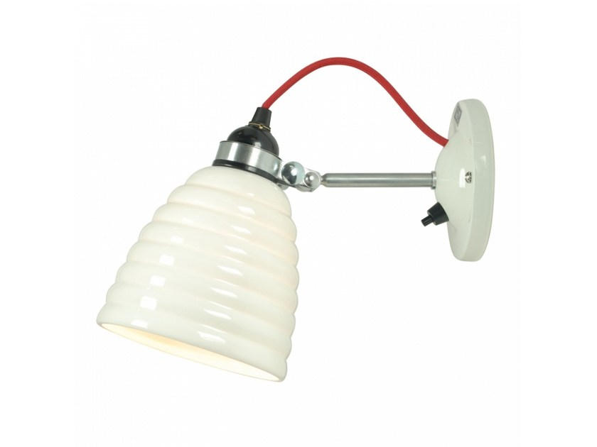 Adjustable porcelain wall lamp with fixed arm HECTOR BIBENDUM SWITCHED by Original BTC