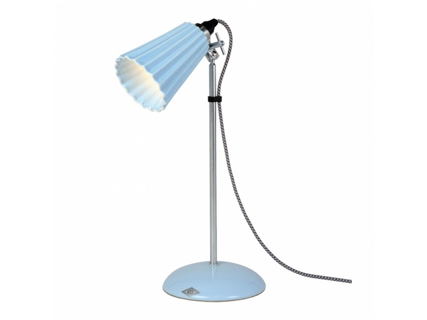 Adjustable porcelain table lamp with fixed arm HECTOR SMALL PLEAT by Original BTC