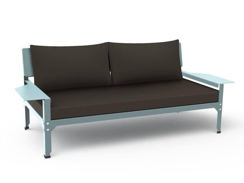 Galvanized steel garden sofa HEGOA   Garden sofa by Matière Grise