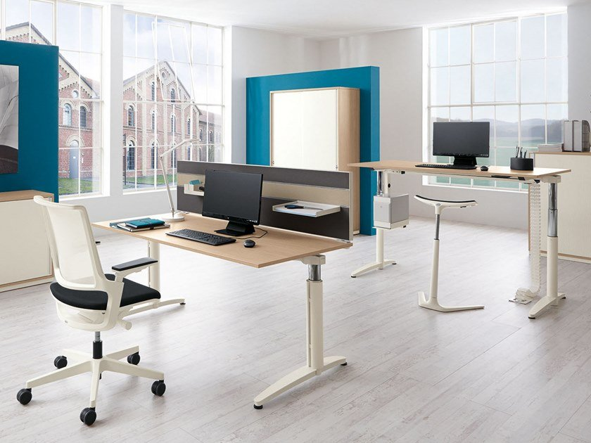 Caldo Height Adjustable Office Desk Caldo Collection By Palmberg