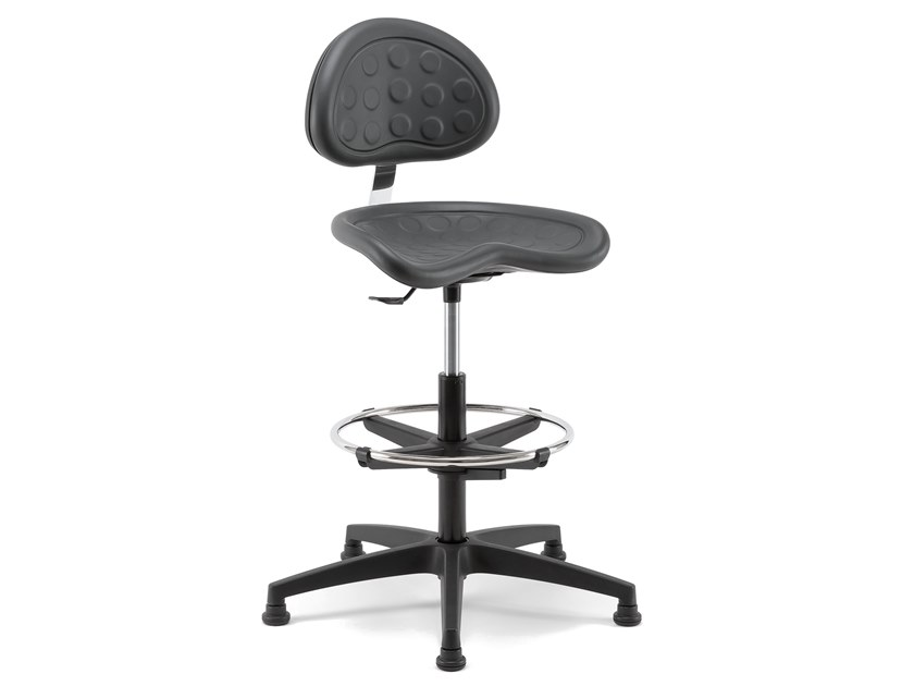 TRACTOR | Height-adjustable office stool Tractor Collection