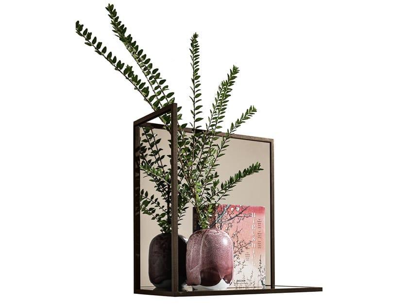 Specchio quadrato a parete con mensola HELIA | Specchio quadrato by Sovet italia