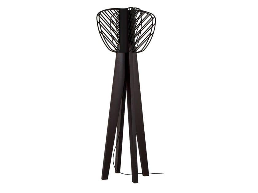 Wooden floor lamp HELIO | Floor lamp by Flam & Luce