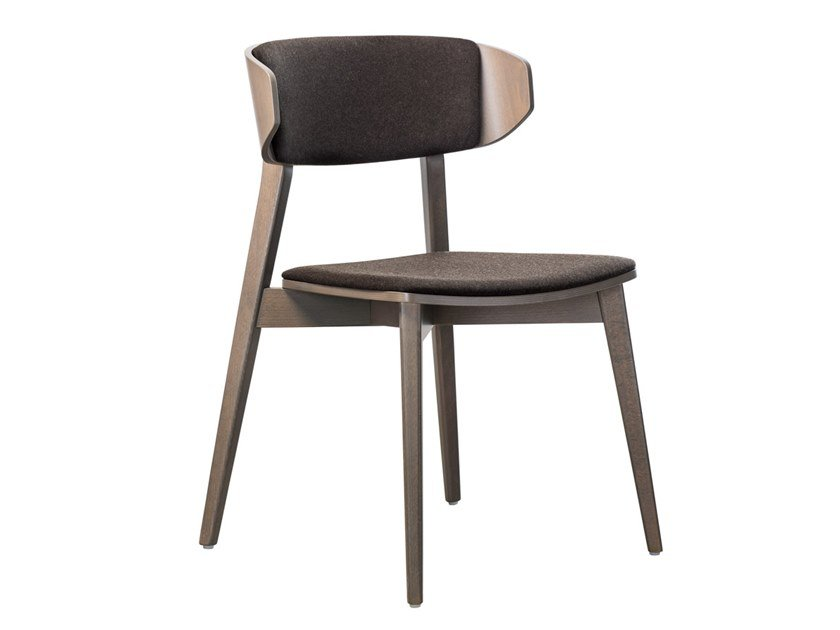 Stackable beech chair with integrated cushion HELLEN PLUS SE03 by New Life