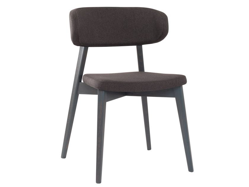 Upholstered stackable open back beech chair HELLEN PLUS SE04 by New Life