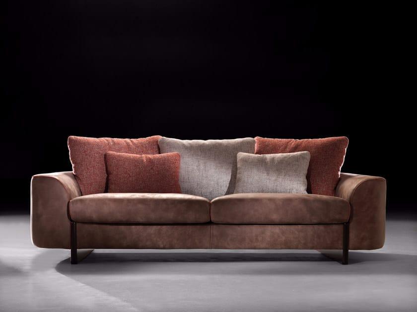 Leather sofa HELLIS | Sofa by Borzalino