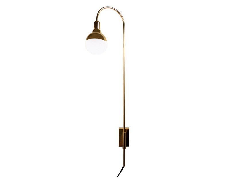 Metal wall lamp with fixed arm HELMET CURVE by Aromas del Campo