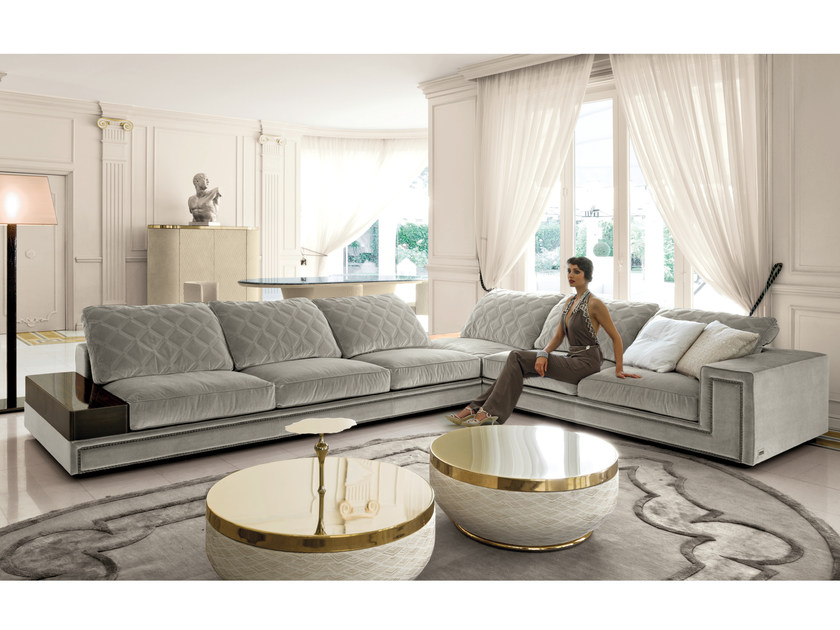Corner Sectional Fabric Sofa HELMUT | Fabric Sofa By Longhi