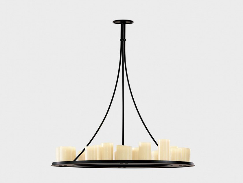 Indirect light steel pendant lamp HEMEL by Kevin Reilly Collection