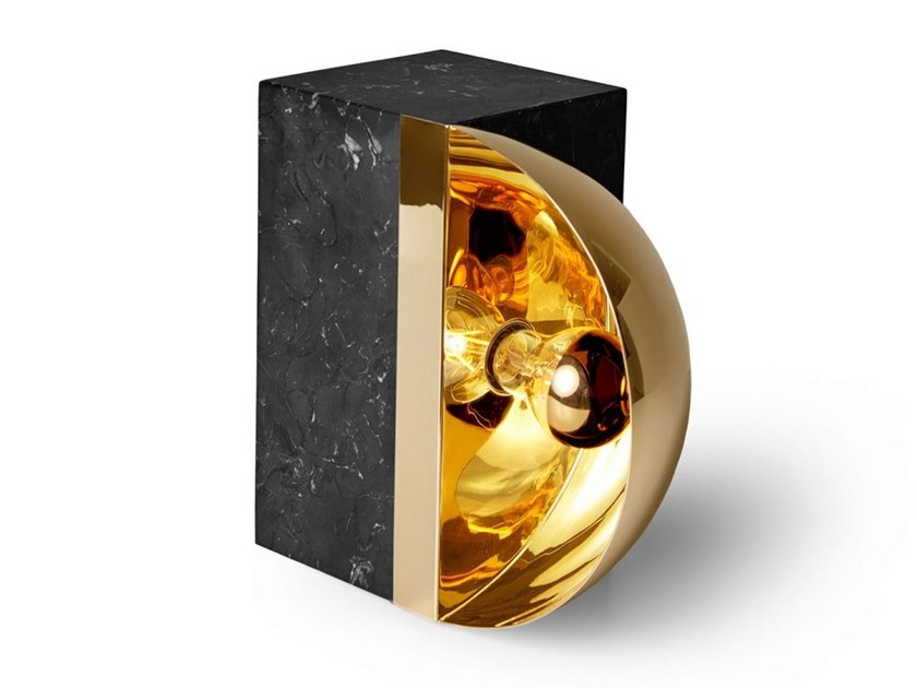 LED marble table lamp HEMISPHERE | Table lamp by Ginger & Jagger