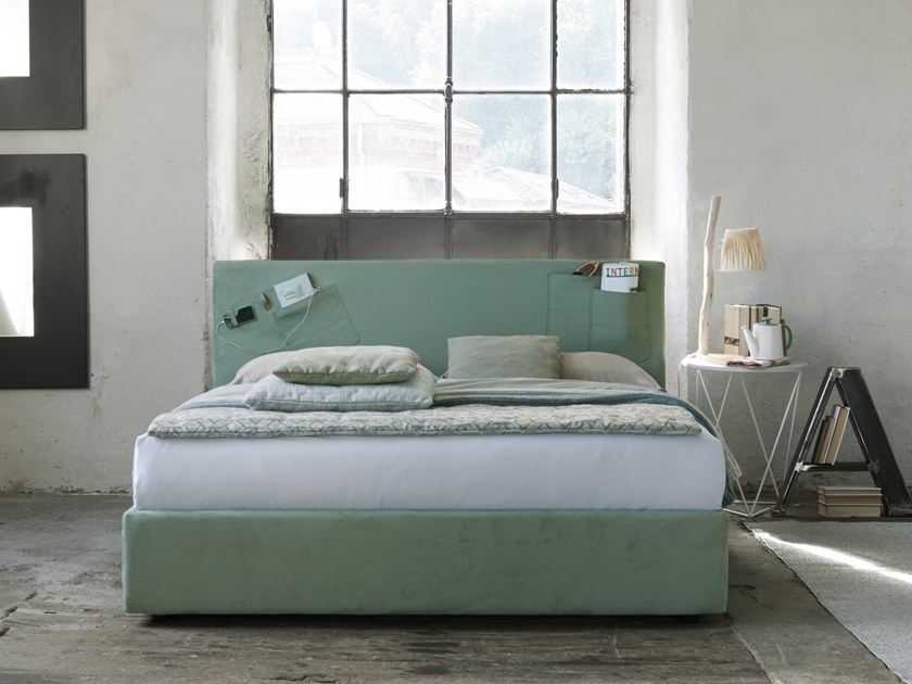 Upholstered double bed HENNER by Dorelan