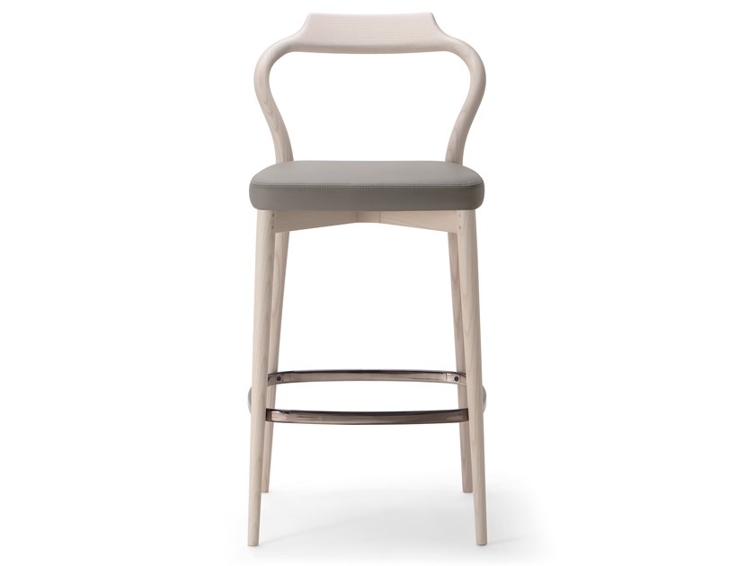 High solid wood stool HER STOOL by Verti