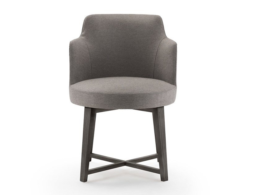 Upholstered chair with armrests HERA | Chair with armrests by FLEXFORM