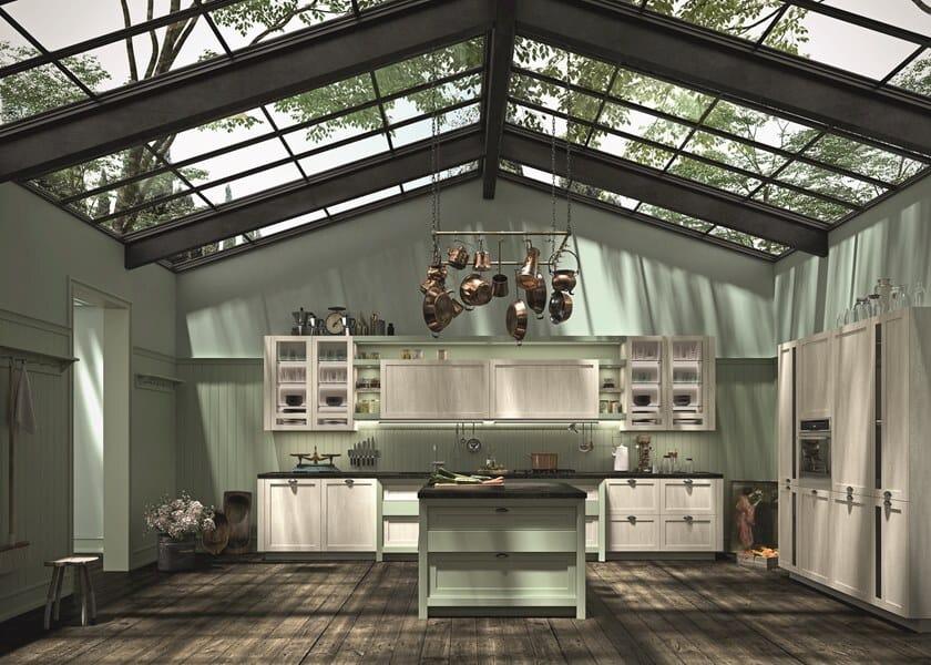 Wooden kitchen with handles HERA | Kitchen by Snaidero