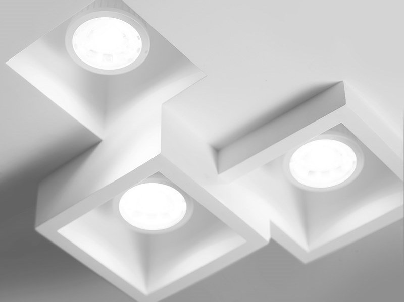 Led Recessed Plaster Ceiling Lamp Heraea By Sforzin