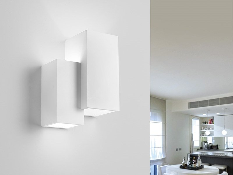 LED direct-indirect light gypsum wall light HERAEA | Wall light by Sforzin