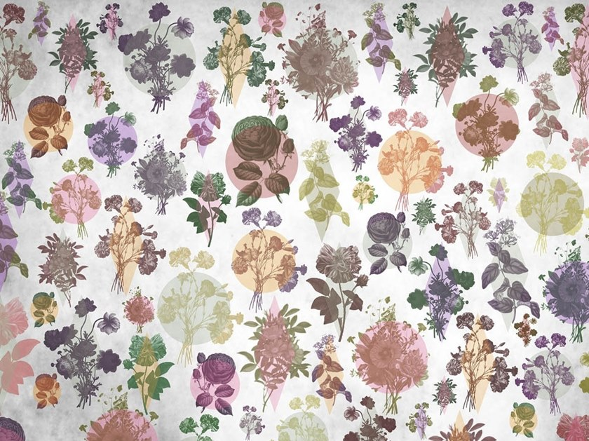 Natural wallpaper, PVC free, eco, washable HERBARIUM by Wallpepper Group