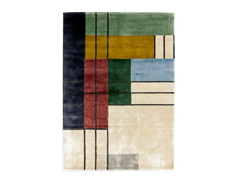 Handmade Bamboo silk rug HERENCIA MULTI by Tacto