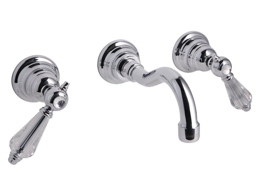 3 hole wall-mounted washbasin tap HEREND CHIC F5401/5C | Washbasin tap by FIMA Carlo Frattini