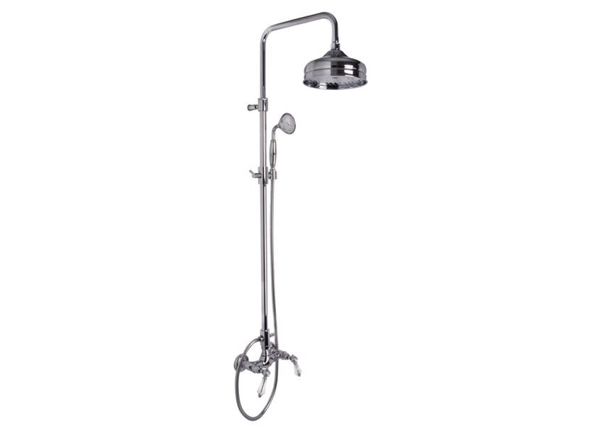 Wall-mounted shower panel with overhead shower HEREND CHIC F5405/2C | Shower panel by FIMA Carlo Frattini