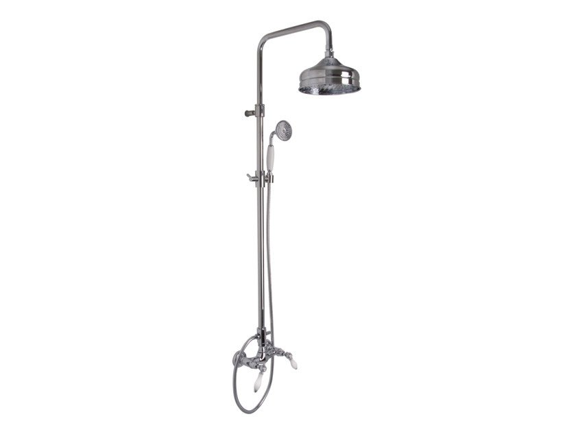 Shower wallbar with hand shower with overhead shower HEREND F5405/2 | Shower wallbar by FIMA Carlo Frattini