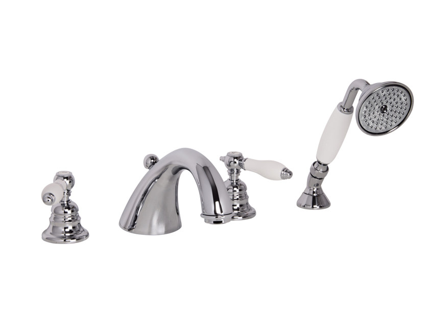 4 hole bathtub tap with hand shower HEREND F5414 | Bathtub tap by FIMA Carlo Frattini