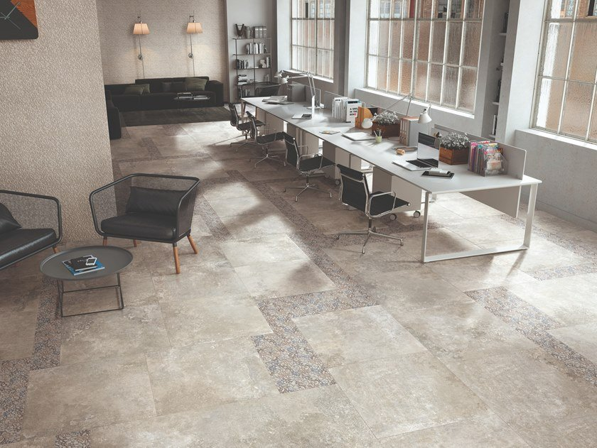Porcelain stoneware wall/floor tiles with stone effect HERITAGE BEIGE by Viva by Emilgroup