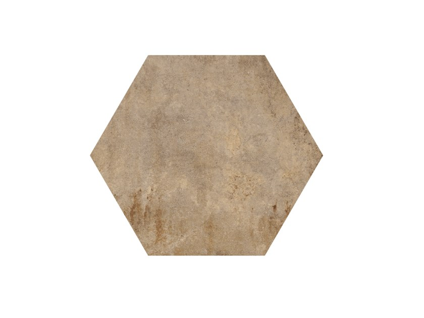 Porcelain stoneware wall/floor tiles HERITAGE EXAGONA BEIGE by Ceramica Fioranese