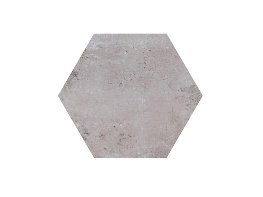 Porcelain stoneware wall/floor tiles HERITAGE EXAGONA GREY by Ceramica Fioranese