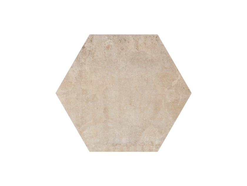 Porcelain stoneware wall/floor tiles HERITAGE EXAGONA IVORY by Ceramica Fioranese