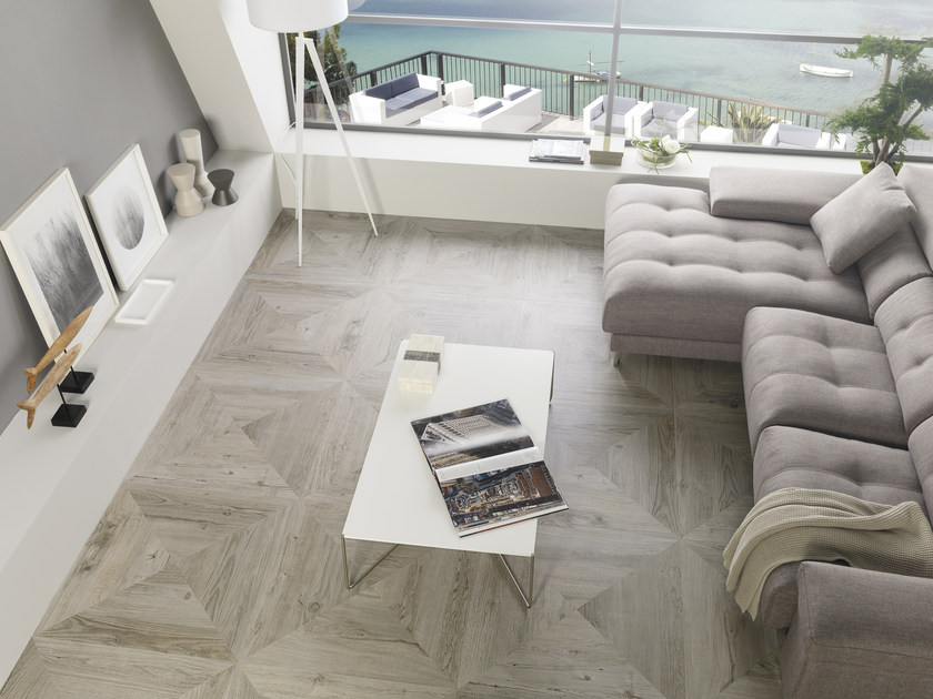Porcelain stoneware flooring with wood effect HERITAGE by Porcelanosa