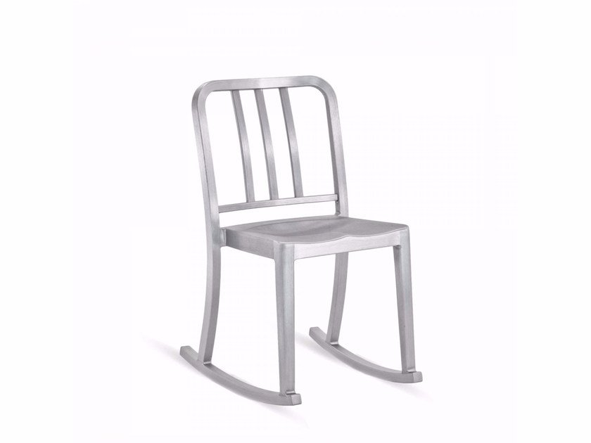 Rocking aluminium chair HERITAGE | Rocking chair by Emeco