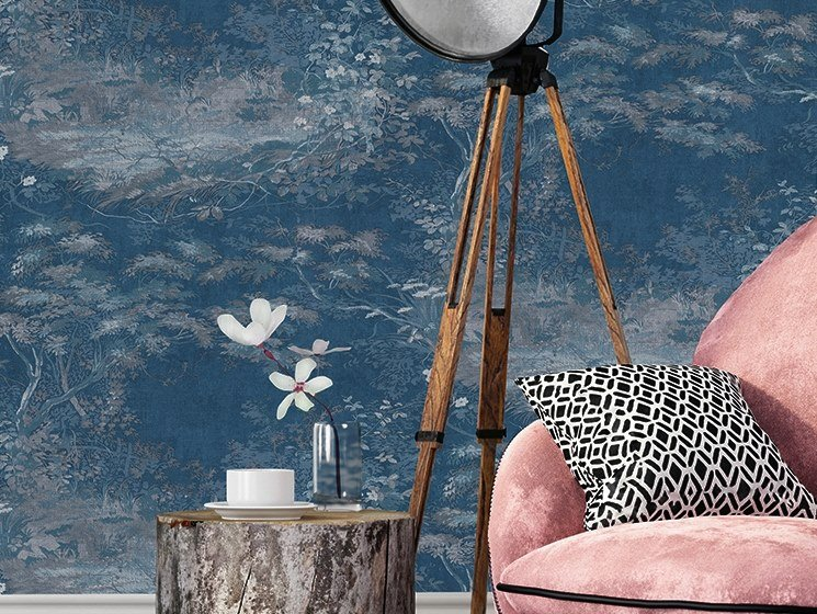 Vinyl wallpaper with floral pattern HERITAGE | Wallpaper with floral pattern by NANNI GIANCARLO & C.