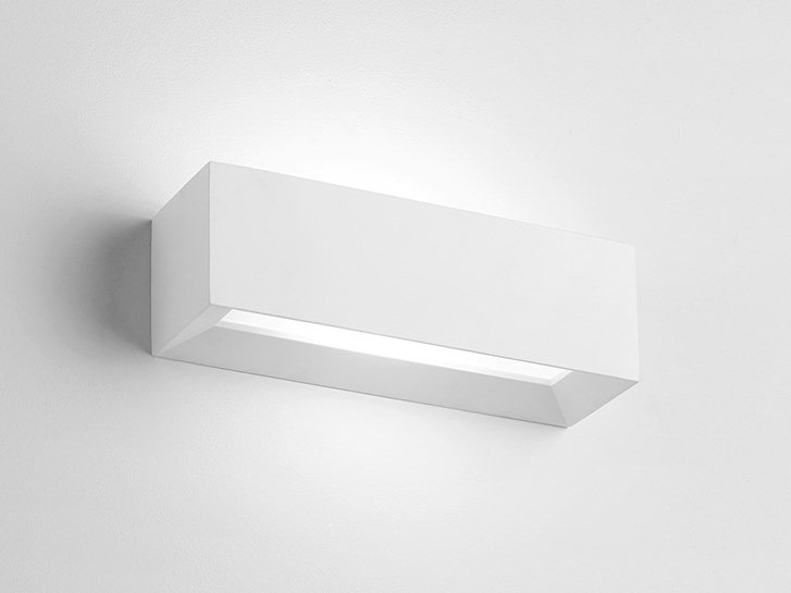Direct-indirect light plaster wall light HERMIONE by Sforzin