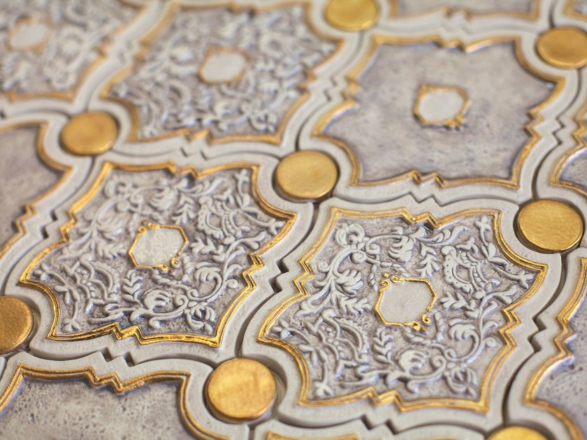White-paste mosaic HERMITAGE by AREZIA