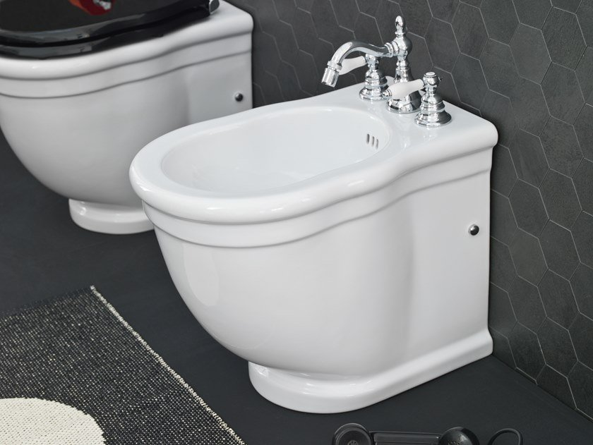 Floor mounted ceramic bidet HERMITAGE | Floor mounted bidet by Artceram