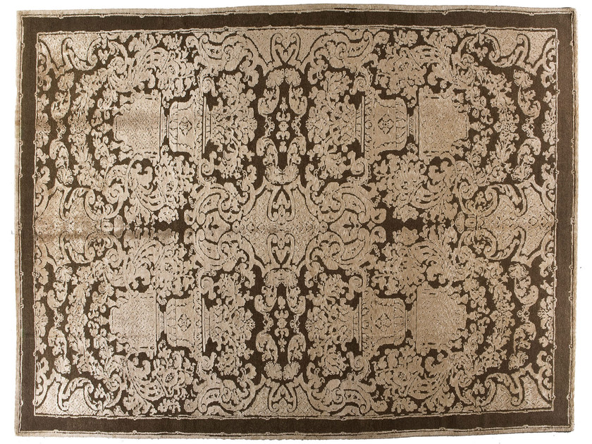 Patterned handmade rectangular rug HERMITAGE by Golran