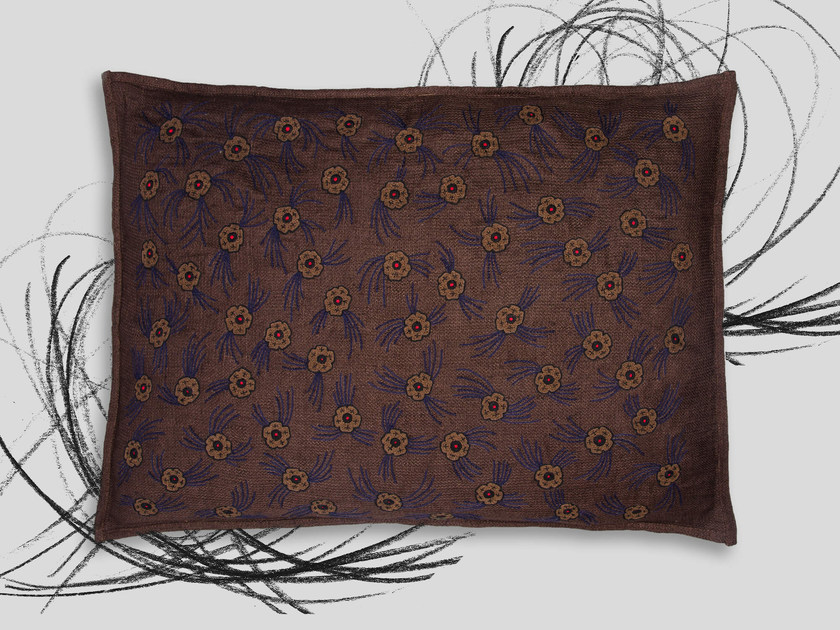 Hand embroidered cushion HERMITAGE by Jupe by Jackie
