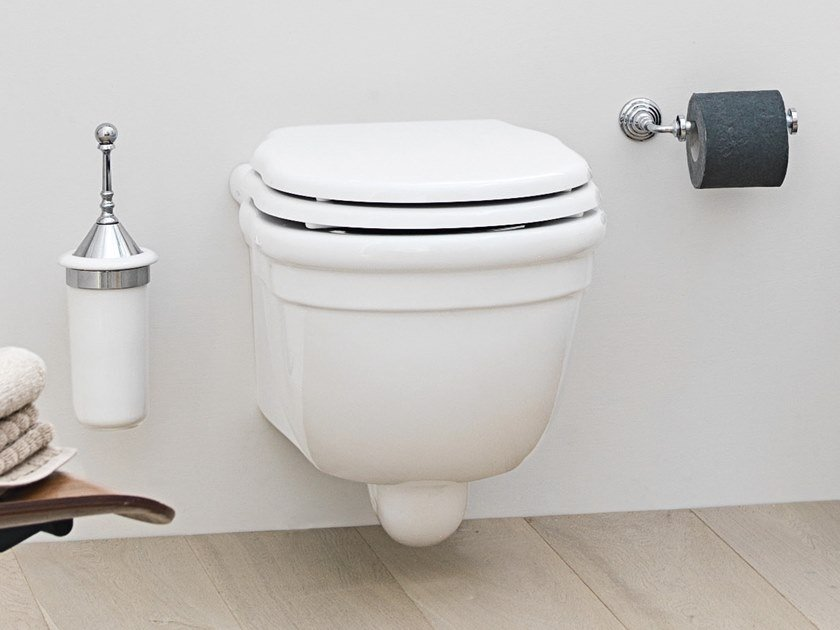 Wall-hung ceramic toilet HERMITAGE | Wall-hung toilet by Artceram