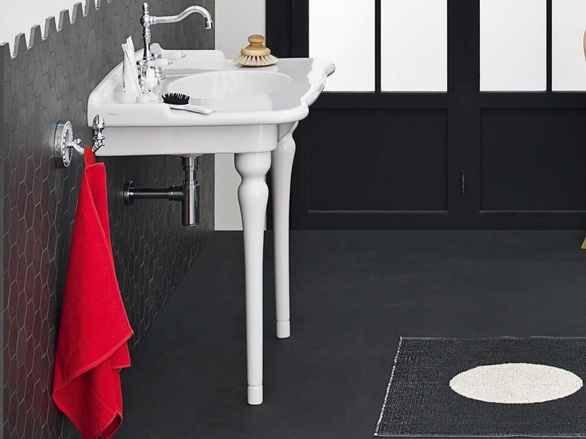 Console ceramic washbasin HERMITAGE | Washbasin by Artceram
