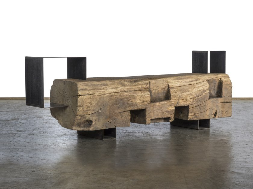 Reclaimed wood table base HERO by A&B Rosa dei Legni