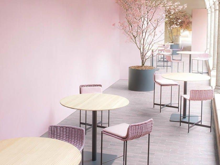 Technical fabric garden stool HERON | Stool by paola lenti