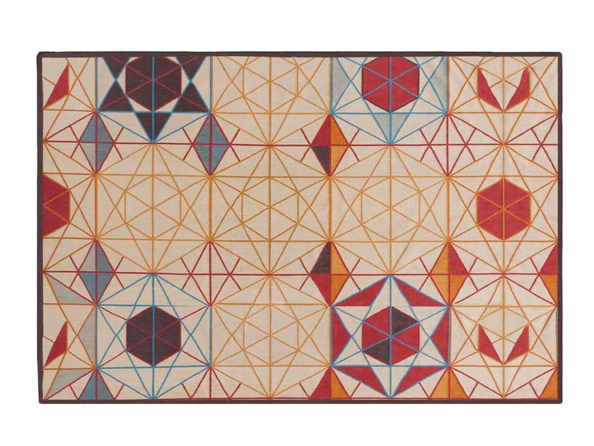 Tappeto rettangolare in lana HEXA | Tappeto rettangolare by GAN