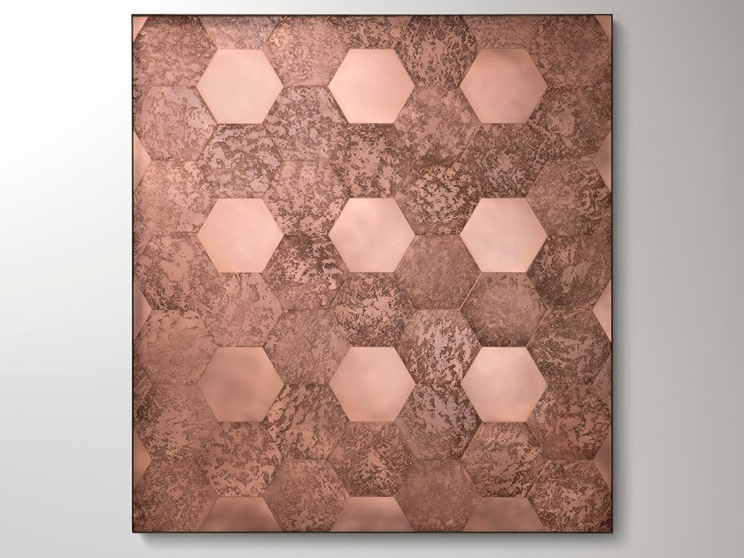 Pannello decorativo in rame HEXAGON by DE CASTELLI