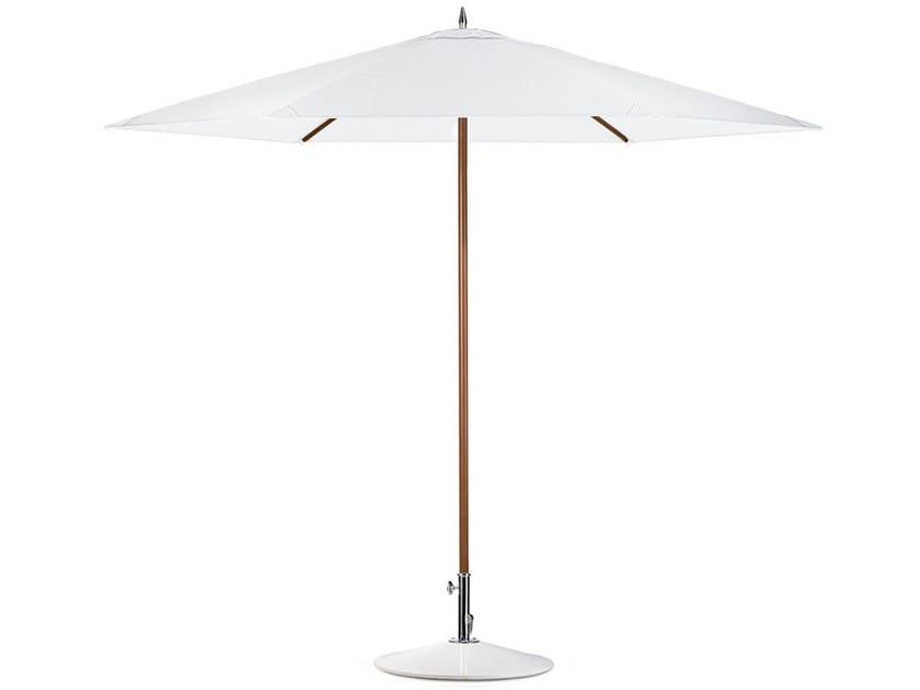 Fiberglass and Batyline® Garden umbrella HEXAGON | Fiberglass Garden umbrella by DEDON