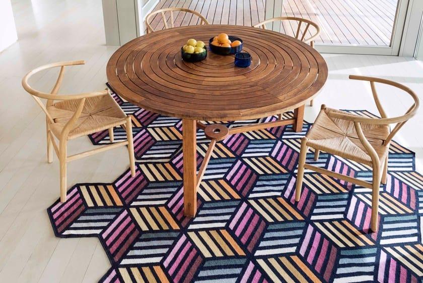 Tappeti Kilim Milano : Tappeto in lana a motivi geometrici hexagon collezione kilim by gan