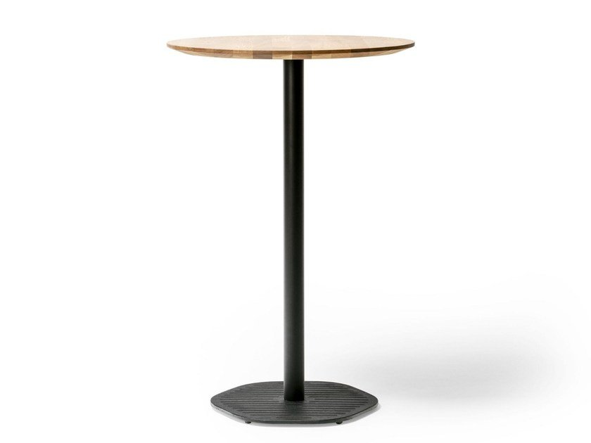 Merveilleux Round Wooden High Table HEXAGON 639 | High Table By TON