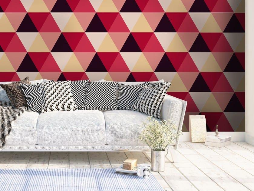 Adhesive geometric washable wallpaper HEXAGON by Wall LCA