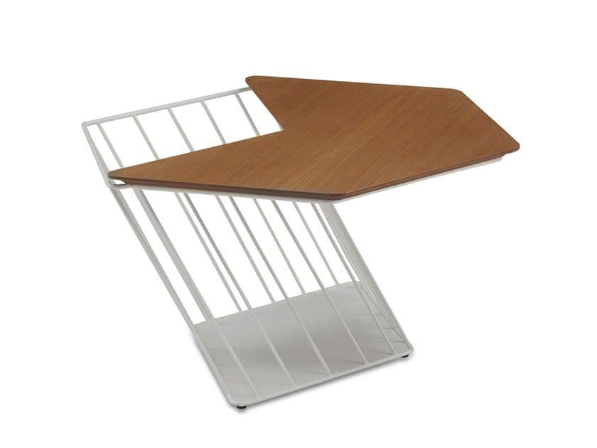 HEXAGON Wood Veneer Coffee Table By BT Design - Hexagon wood coffee table